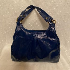 Coach Maggie Patent Leather Hobo Bag
